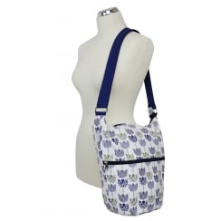 Tulip Print Large Cross Body Bag