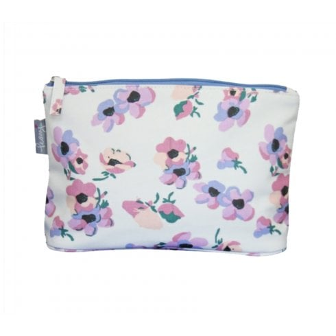 Peony Violet Print Make Up Bag - Lilac