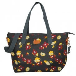 Violet Print Tote Bag - Black DUE AUGUST