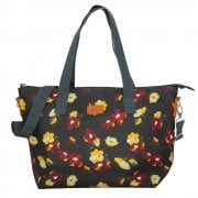 Violet Print Tote Bag - Black