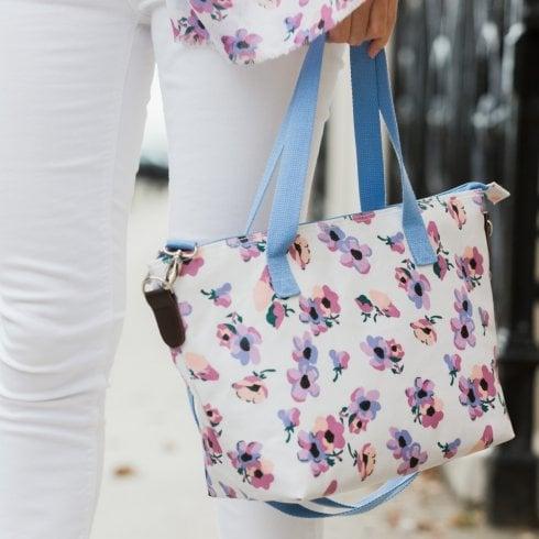 Peony Violet Print Tote Bag - Lilac