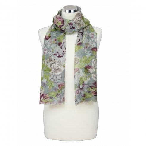 Peony Wool Flower Design - Dove